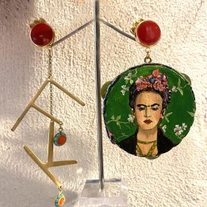 Frida Kahlo tambourine earrings