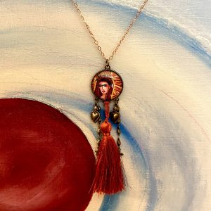 Frida Kahlo Crowned Necklace