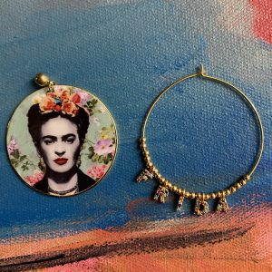 Frida Kahlo gold plated earrings