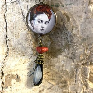 Frida Kahlo portrait earrings