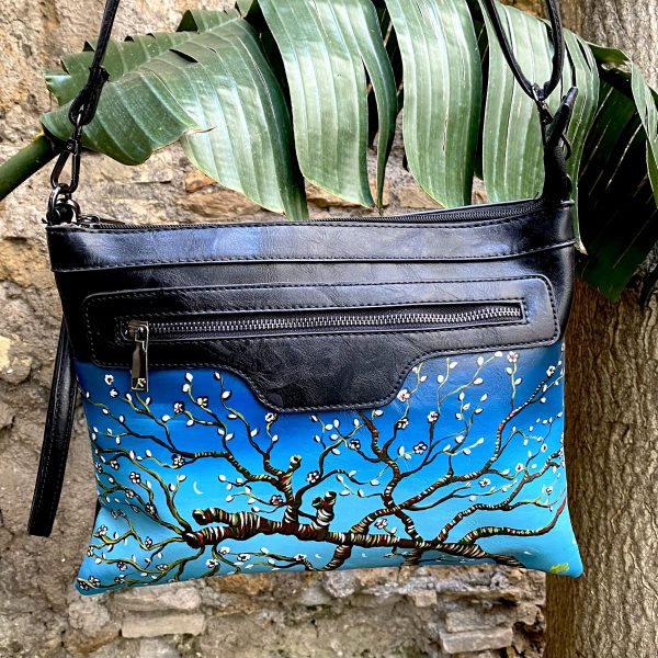 Almond Blossom hand painted bag