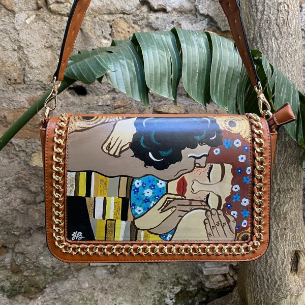 Klimt The Kiss hand painted bag