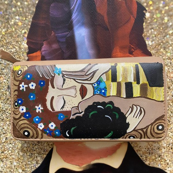 Klimt Hand painted wallet