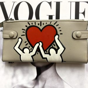 Keith Haring hand painted wallet