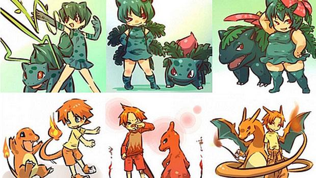 Pokemons na Versão Humana