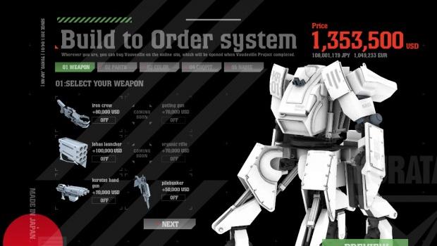 Compre agora seu robô gigante! por apenas 1,35 milhão de dólares
