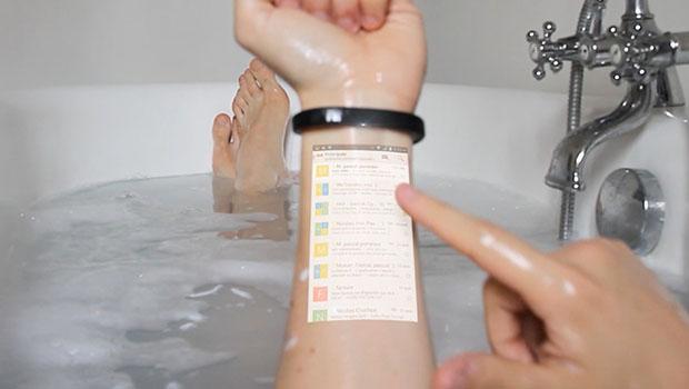 Cicret é como um celular, só que na sua pele.