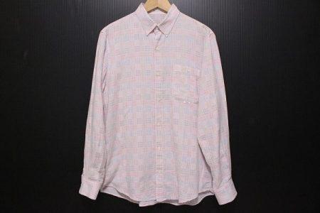 淡いピンクのチェックのパパス(Papas)の長袖シャツを宅配買取にてお売り頂きました