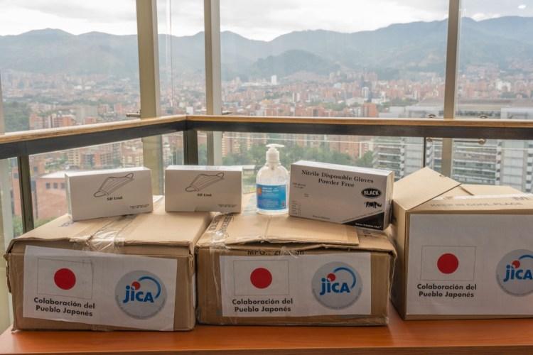 Medellín recibe donación de Japón para ayudar a la prevención del coronavirus