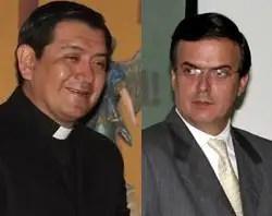 Hugo Valdemar y Marcelo Ebrard