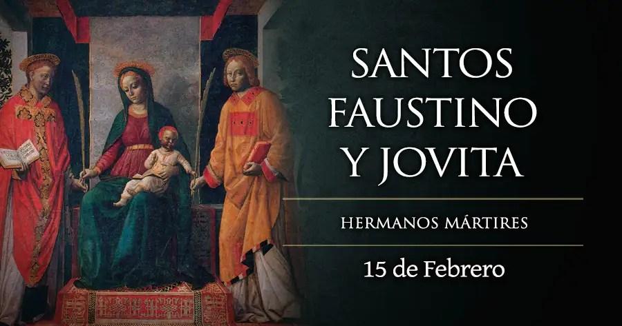 Resultado de imagen para Santos Faustino y Jovita