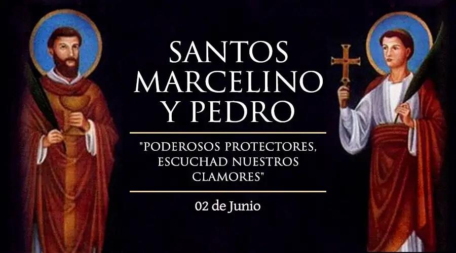Resultado de imagen para Santos Marcelino y Pedro
