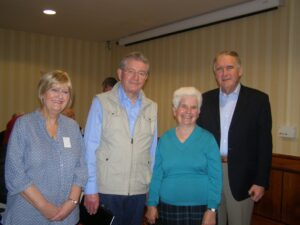 Mary Vallely (left) with Sean and Patricia O'Conaill and Anthony Neville