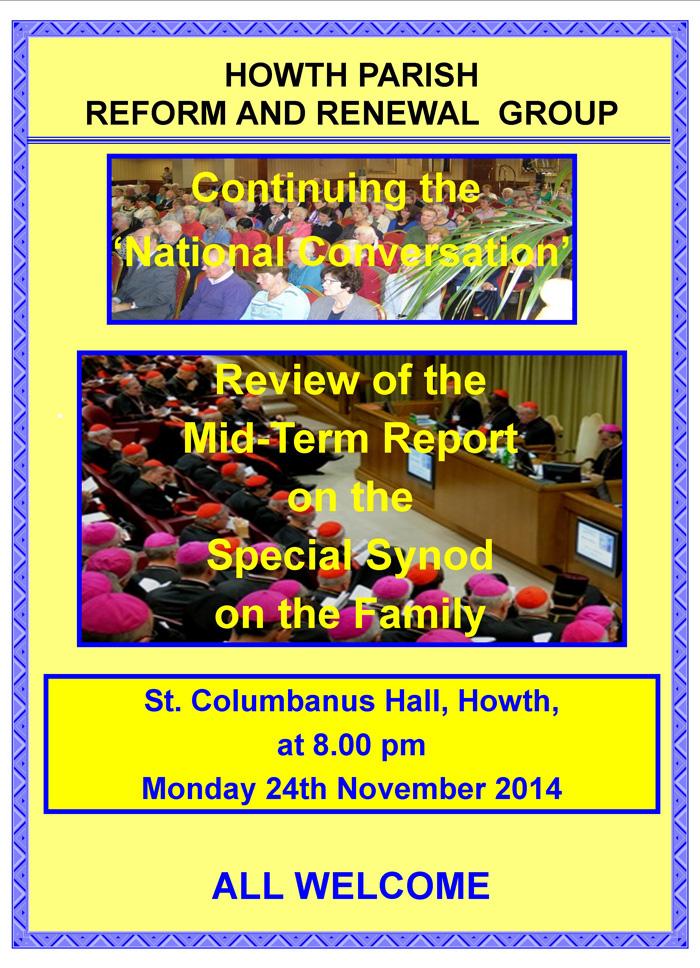 Howth RandR Meeting 24th Nov 2014