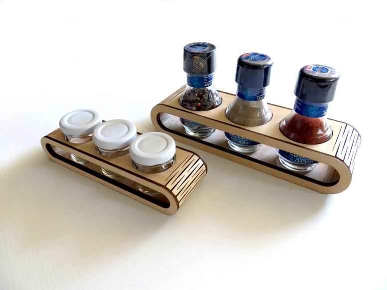 Roller - espositore in legno multiuso per barattoli, boccette e simili