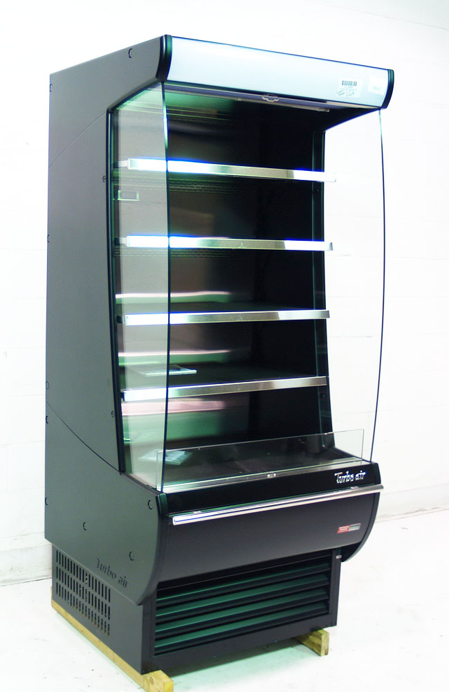 Turbo Air TOM 36 DXB Scratch Amp Dent 36 Open Display Merchandiser Case Refrigerated Vertical