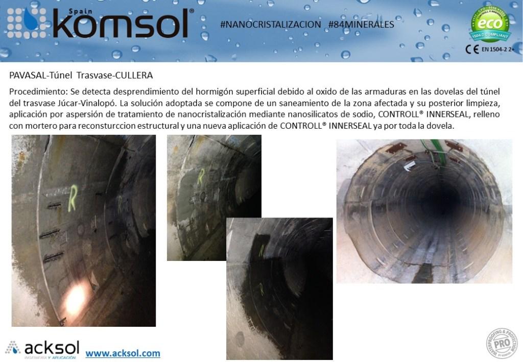 Nanocristalización túnel trasvase de Cullera