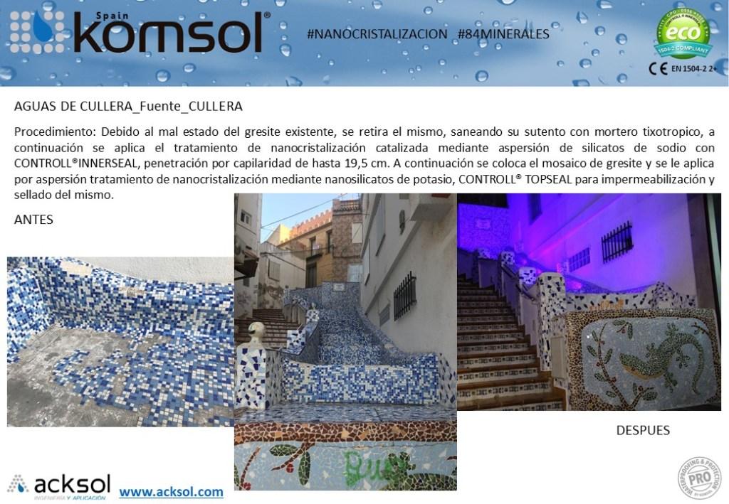 Tratamiento de protección y impermeabilización de hormigón en Fuente de Cullera