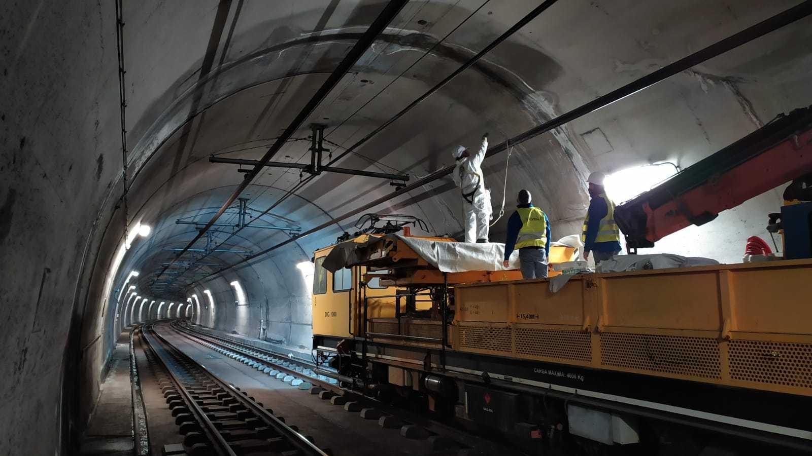 Tratamiento de nanocristalización catalizada en bóvedas de túneles