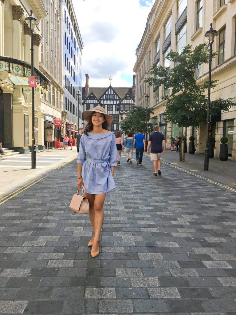 A blue dress for London summer…