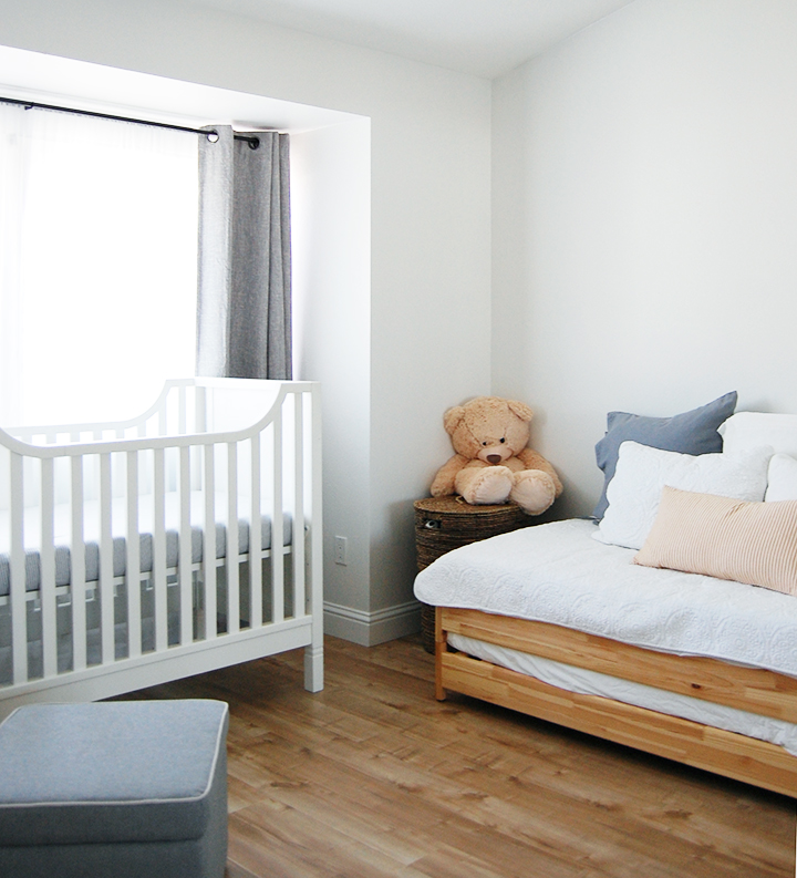 Minimalist nursery decor