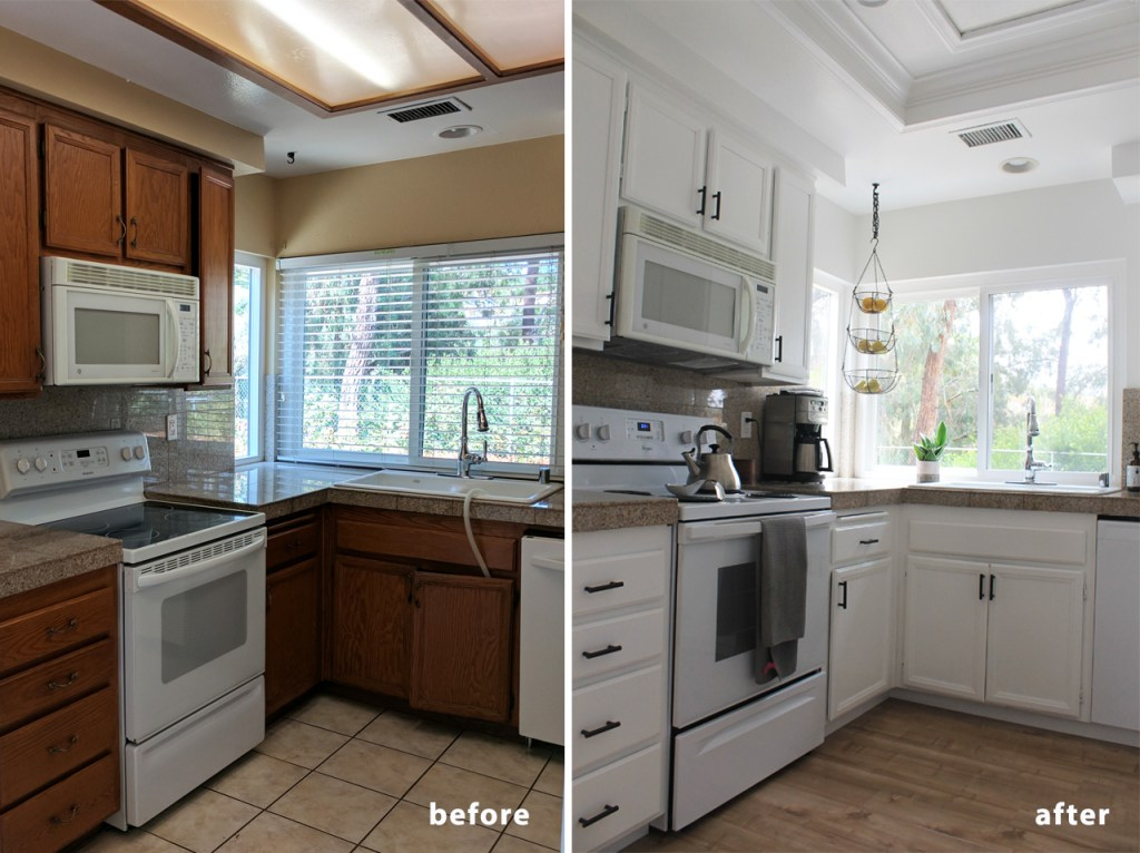 Minimalist Kitchen Makeover Before and After