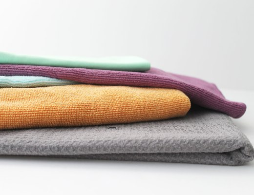 How to wash cleaning rags like cotton towels or microfiber