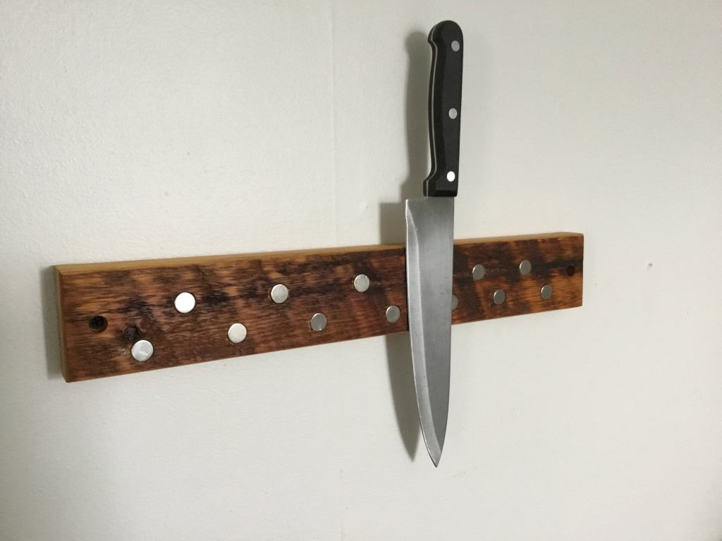 Etsy rustic wooden wall mounted knife holder