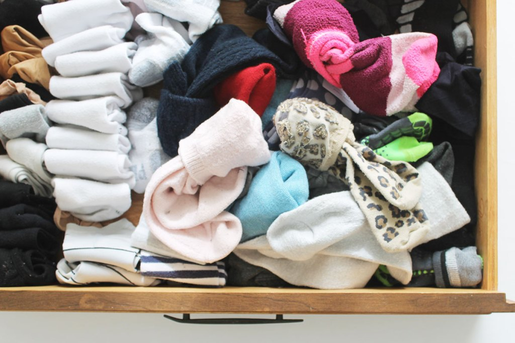 Learn how to organize a sock drawer