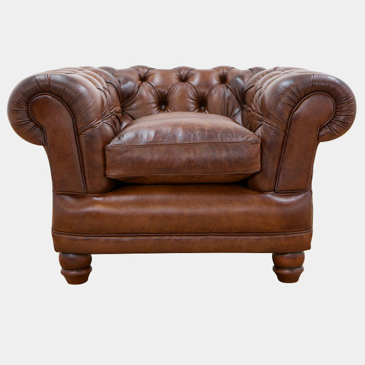 Chatsworth Leather Chesterfield Armchair - aclfurniture.co.uk