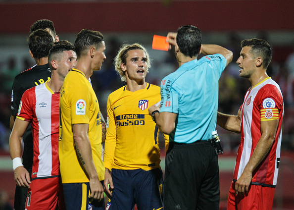 Atletico forward Griezmann handed a 2-match ban for insulting referee