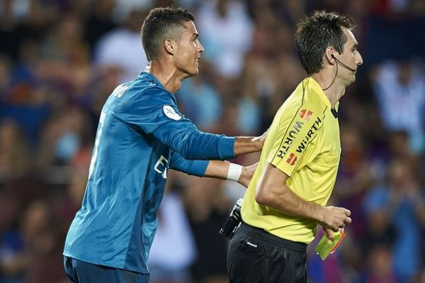 Cristiano Ronaldo banned for five matches for shoving referee