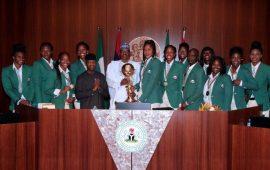 President Buhari redeems pledge of N17.5m to victorious D'Tigress