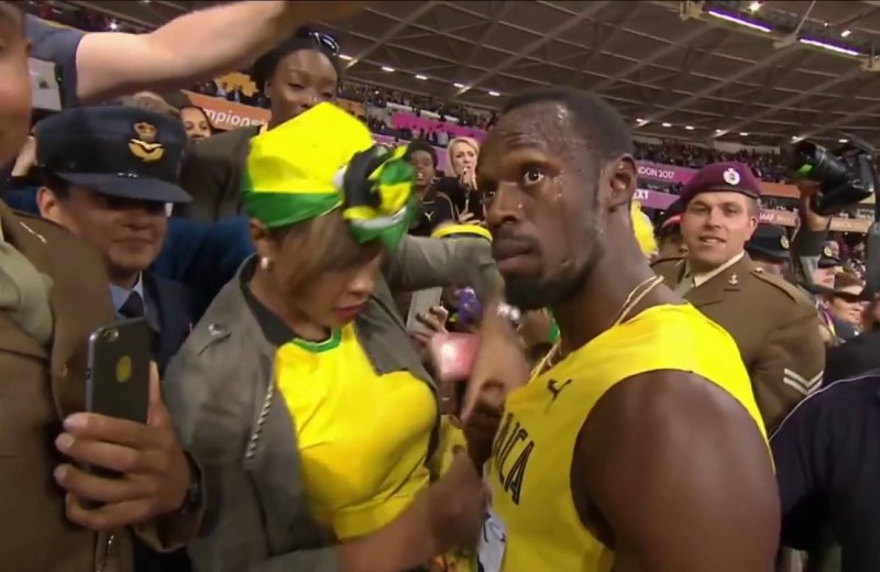 Bolt gets injured in final career race at London World Championships