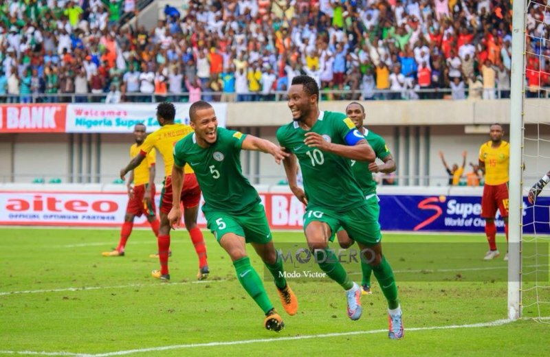 Victor Moses leads Nigeria past Cameroon