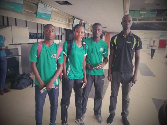 Junior/Cadet ITTF Circuit: Team Nigeria in Cairo, Egypt