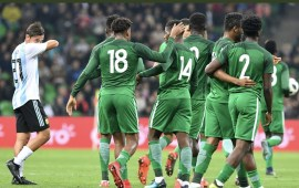 Alex Iwobi stars as Nigeria outclass Seleçion 4-2 in Russia