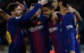 La Liga: Luis Suarez double inspires Barcelona past Sociedad