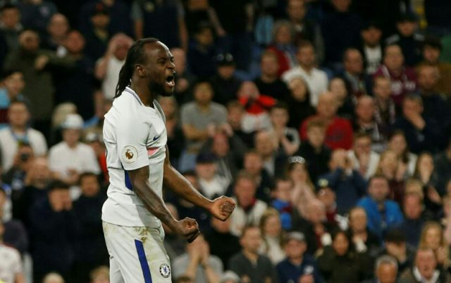 EPL: Victor Moses stars as Chelsea edge past Burnley