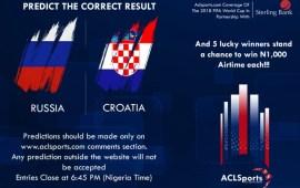 Russia Vs Croatia: Predict and Win airtime