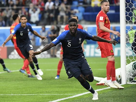 Umtiti heads France into 2018 FIFA World Cup final