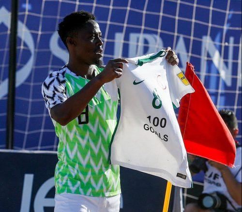 Beach Soccer: Abu Azeez becomes centurion as Nigeria reach World Cup