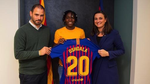 Super Falcon Asisat Oshoala joins Barcelona