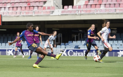 Super Falcons: Oshoala nets brace in Barcelona title push