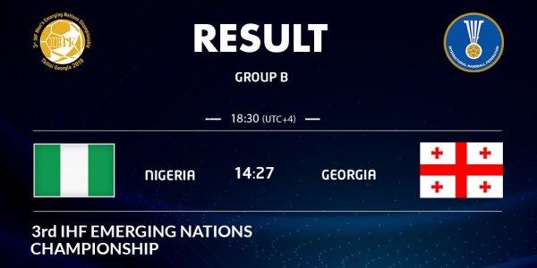 IHF Emerging Nations: Nigeria lose opener to Georgia