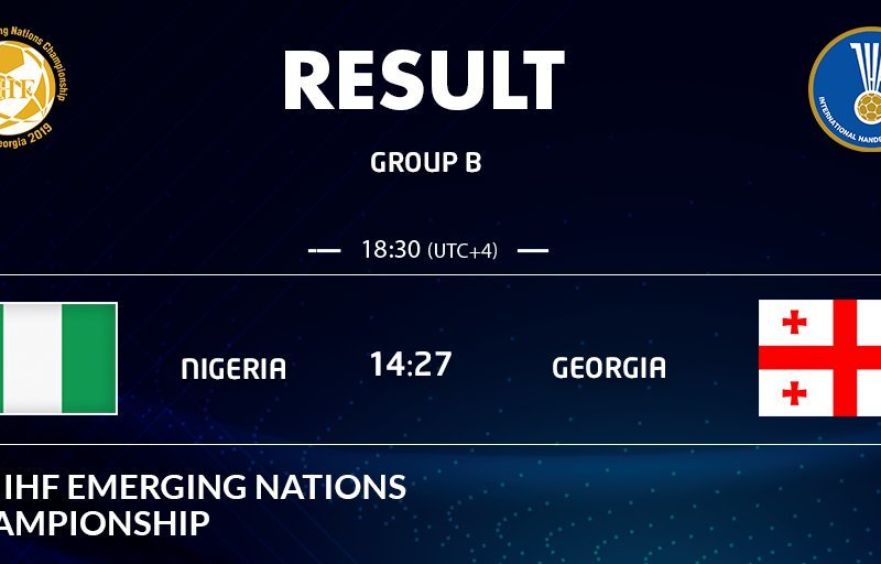 IHF Emerging Nations: Nigeria lose opener to Georgia