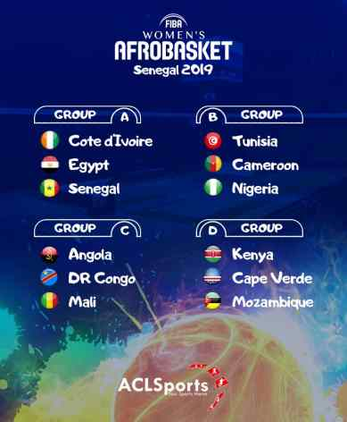 2019 Afrobasket Women: D'Tigress to face Tunisia and Cameroon
