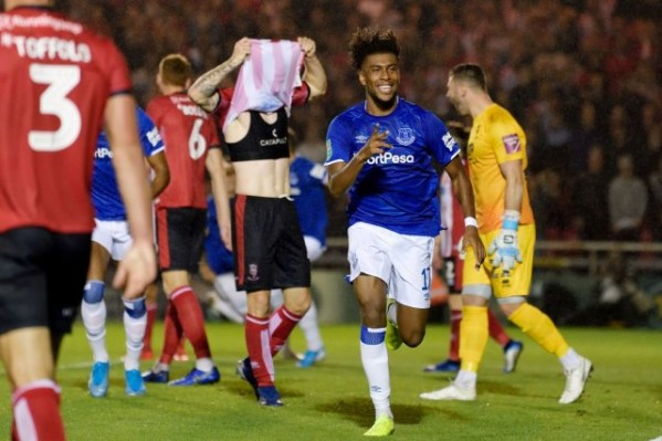 EFL Cup: Alex Iwobi scores first Everton goal