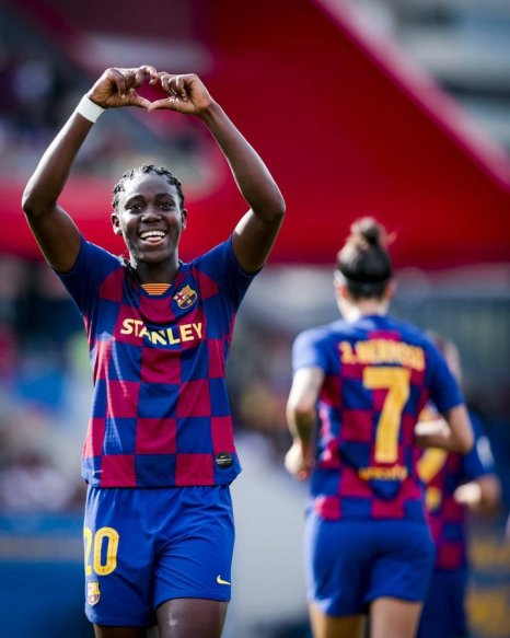 Super Falcons: Oshoala nets brace in Atletico Femenino rout