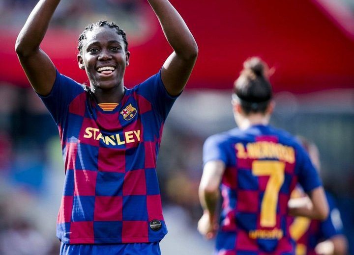 Super Falcons: Oshoala nets brace in Atletico Femenino rout